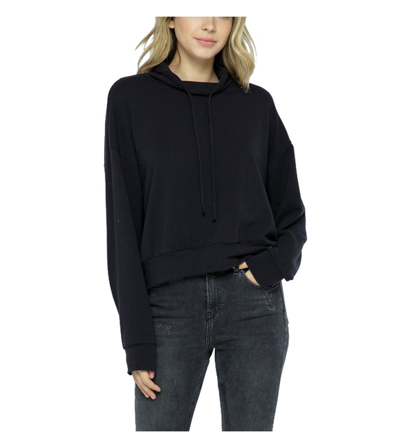 Black Basic Cowl Pullover
