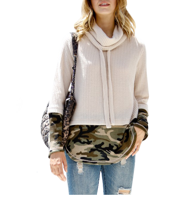 Waffle Knit with Camo