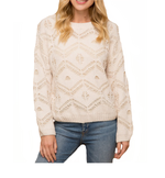 Tribal Overlay Sweater in Ivory