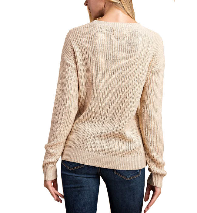 Champagne Knitted Sweater