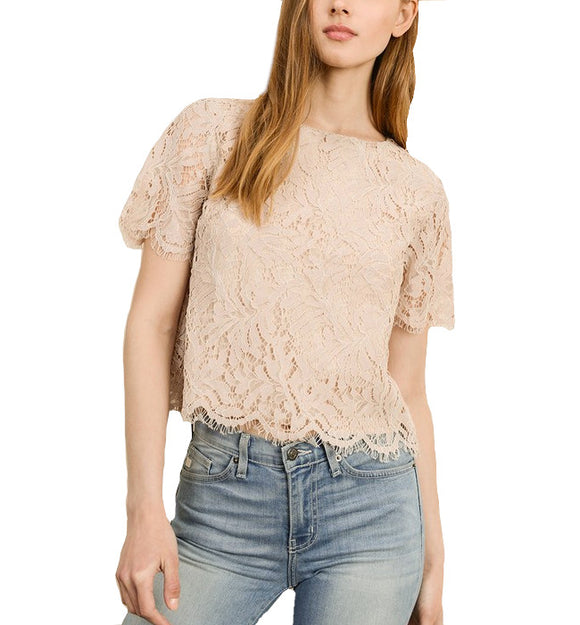 Lovely in Lace Zip Back - Hudson Square Boutique
