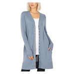 Long Sleeve Snap Front Cardi