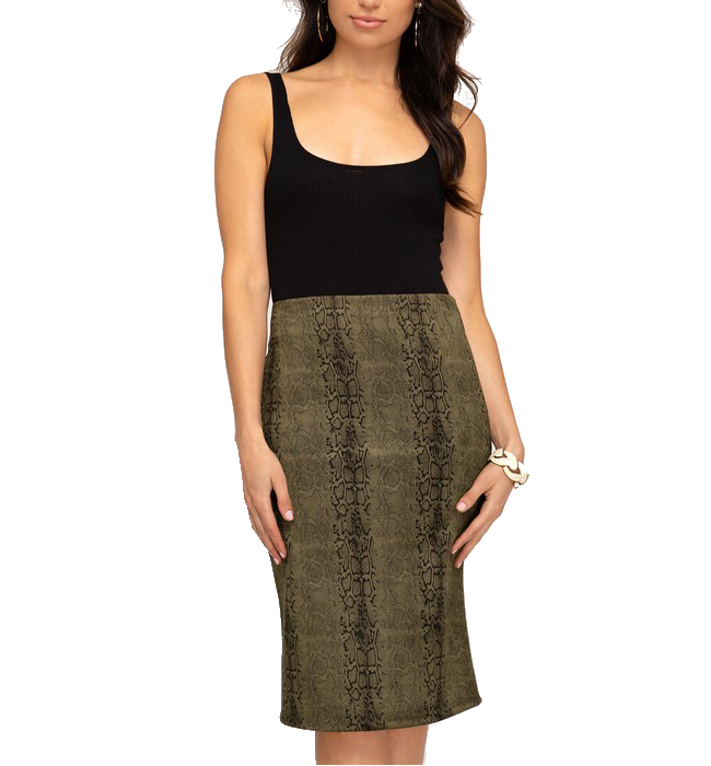 Midi Pencil Skirt - Hudson Square Boutique