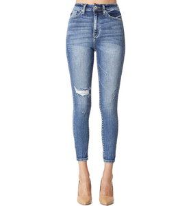 High Rise Cropped Skinny Jean - Hudson Square Boutique LLC