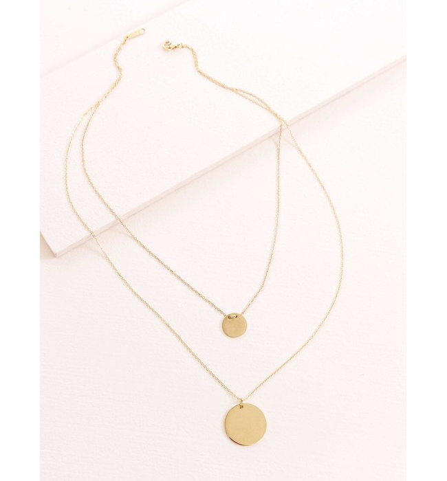 Double Up Layered Necklace
