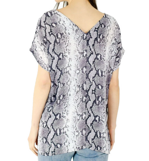 Double V Printed Blouse - Hudson Square Boutique