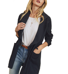 Black Drawstring Waist Coat