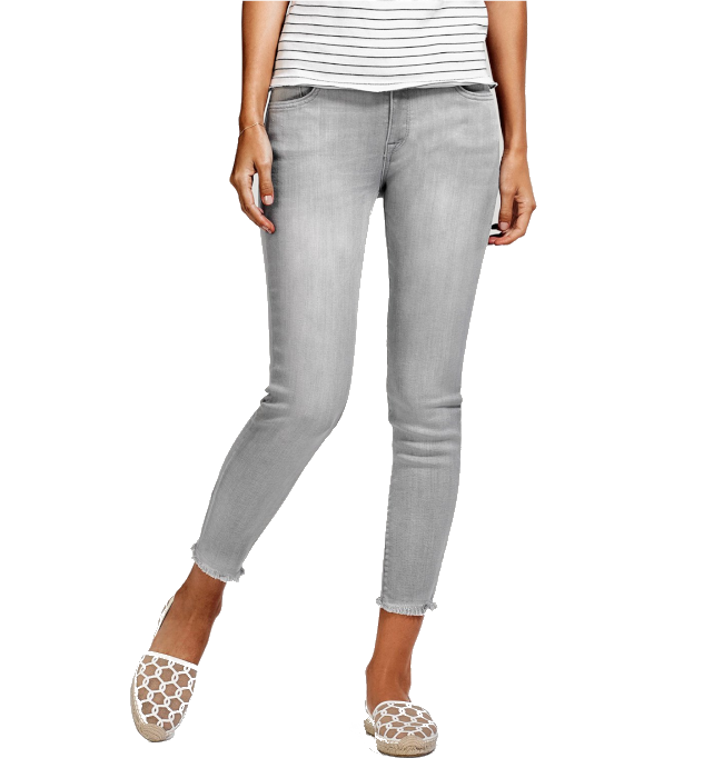 DL1961 Florence Gray Skinny Crop Premium Denim