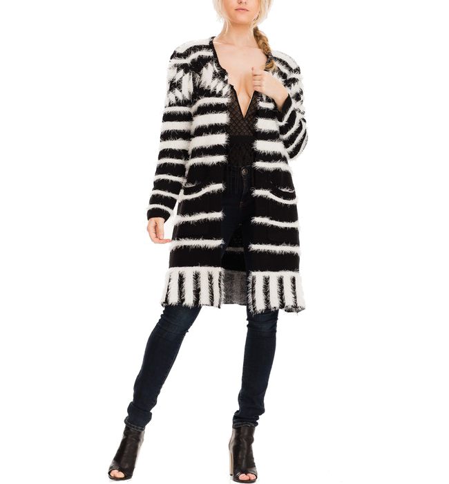 Black & White Tribal Cardi