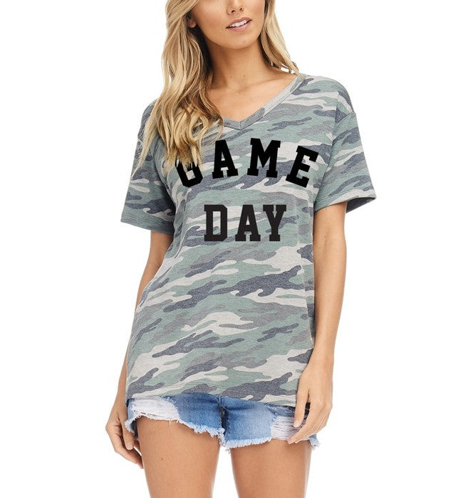 Game Day Graphic Tee Camo