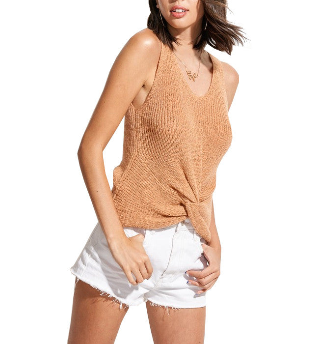 Ginger Sweater Tank with Front Twist