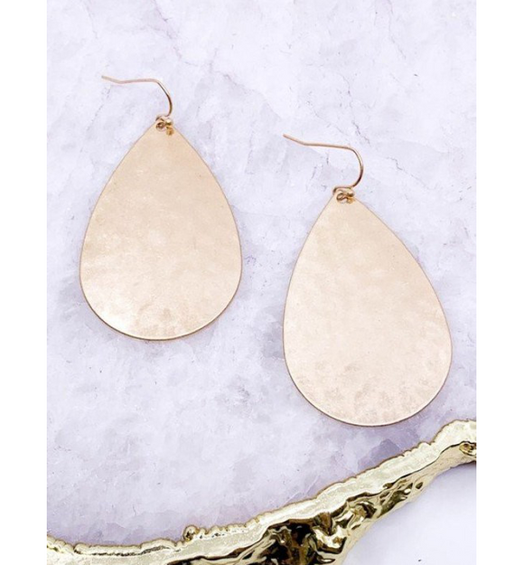 Hammered Drop Earrings - Hudson Square Boutique
