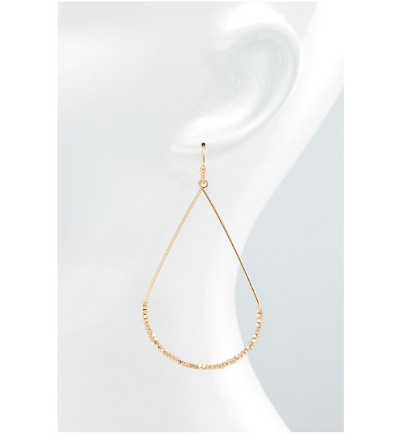 Beaded Teardrop Earrings - Hudson Square Boutique
