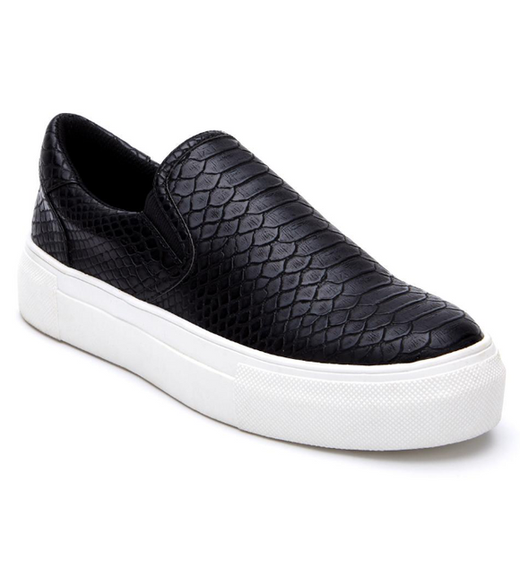 Matisse Gradient Slip On Sneaker in Black - Hudson Square Boutique