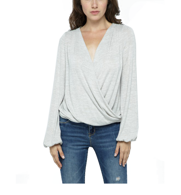 Stone Surplice Top