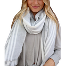 Grey & White Long Scarf