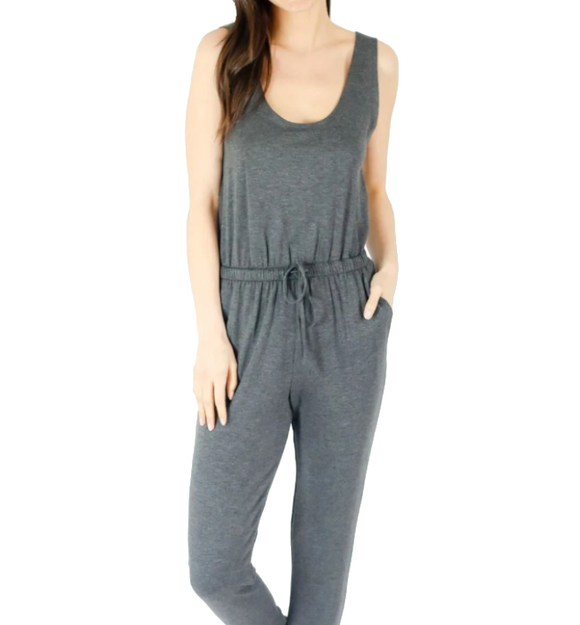 French Terry Jumpsuit - Hudson Square Boutique