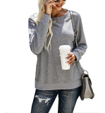 Grey Sweatshirt with Side Slits + Snaps - Hudson Square Boutique