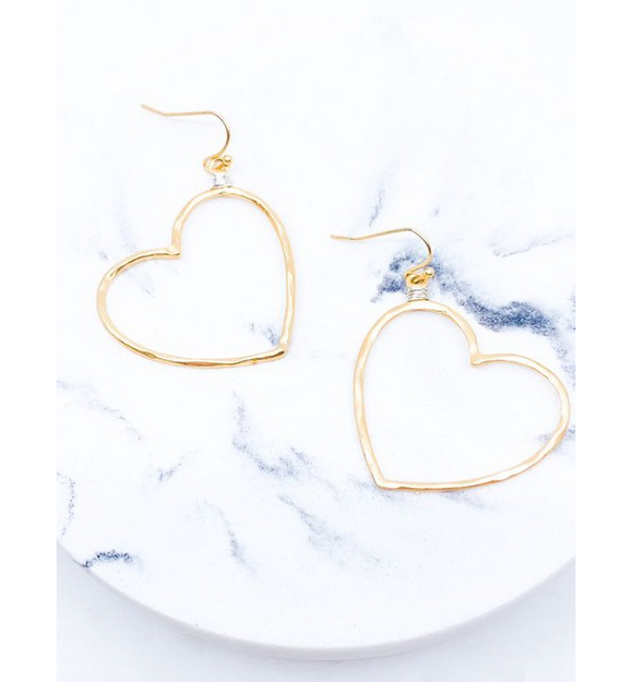 Wire Wrapped Heart Earrings - Hudson Square Boutique