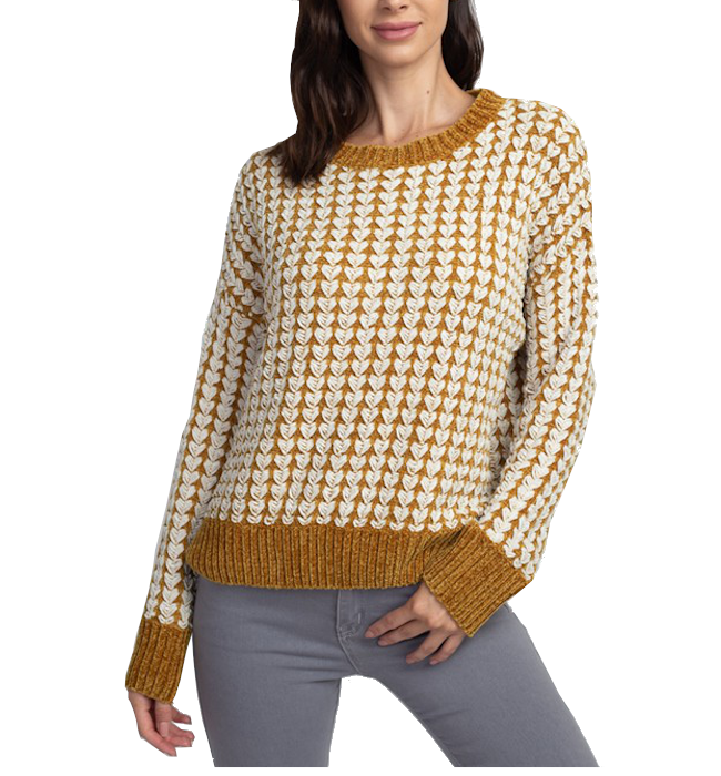 Textured Roundneck Pullover Sweater