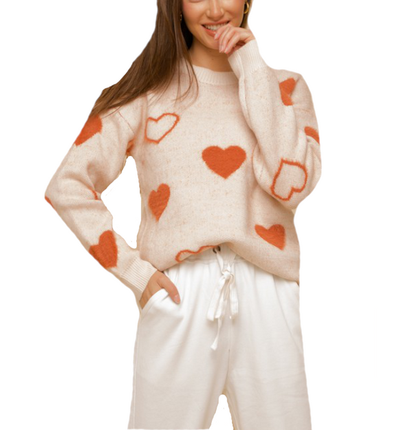 I Heart You Sweater - Hudson Square Boutique