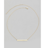 Gold Dainty Heart Bar Pendant Necklace - Hudson Square Boutique
