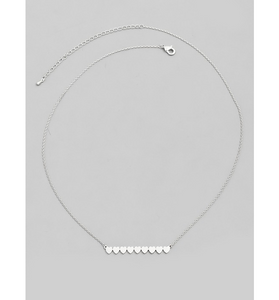 Silver Dainty Heart Bar Pendant Necklace - Hudson Square Boutique