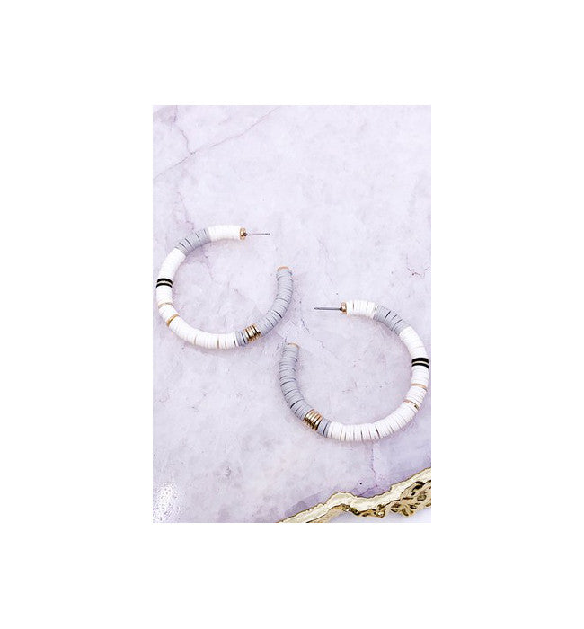 Multi Grey Hoop Earrings