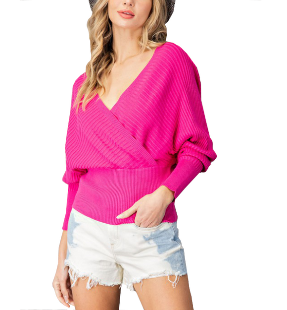 Pink Open Back Ribbed Top - Hudson Square Boutique