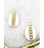 Chevorn Teardrop Earrings