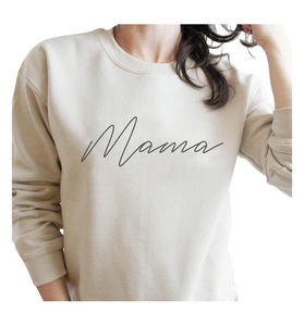 MAMA Sweatshirt in Taupe - Hudson Square Boutique