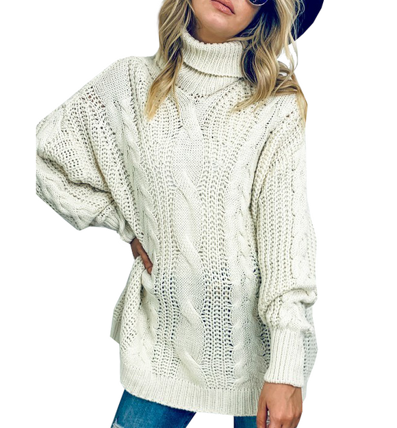 Ivory Knit Turtleneck