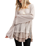 Madison Layered Ruffle Tunic Top