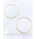 Large Classic Hoops - Hudson Square Boutique