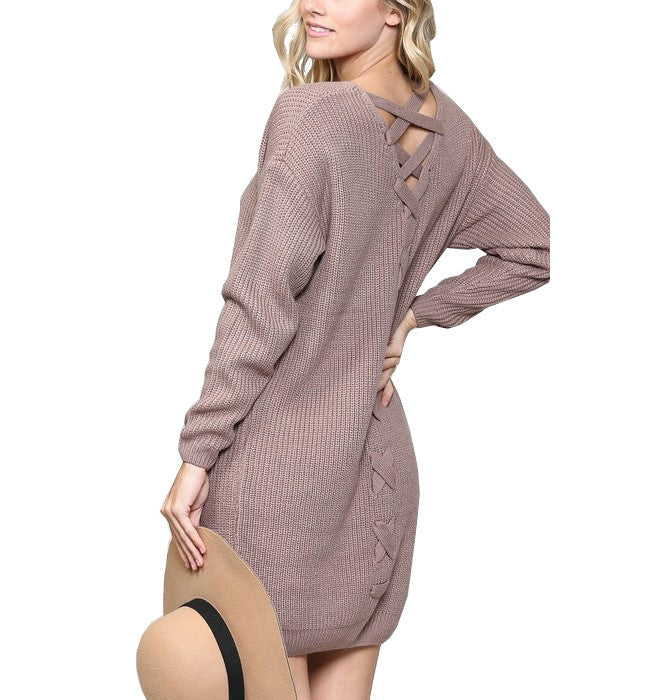Latte Dramatic Sweater Dress