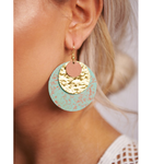 Turquoise & Gold Layered Earrings