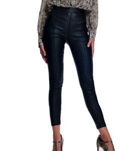 Vegan Leather High Waisted Leggings - Hudson Square Boutique