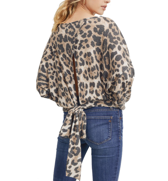 Leopard Tie Back Top