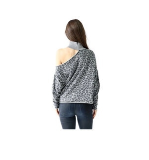 Bleecker Top in Grey Print