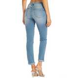 Light Distressed High Rise Skinny