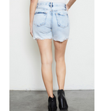 Acid Wash High Rise Shorts - Hudson Square Boutique LLC