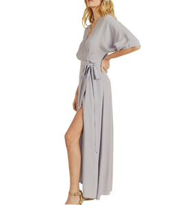 Periwinkle Side Slit Dress - Hudson Square Boutique