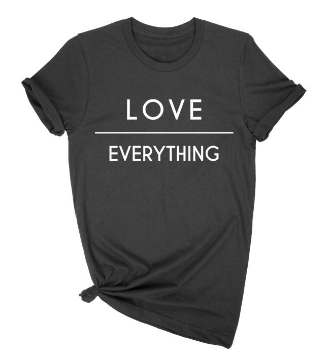 Love Over Everything Black Graphic Tee