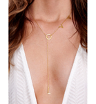 LOVE Drop Gold Necklace