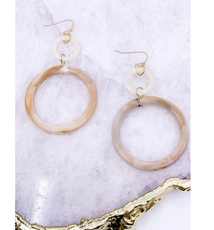 Marbled Acetate Drop Earrings