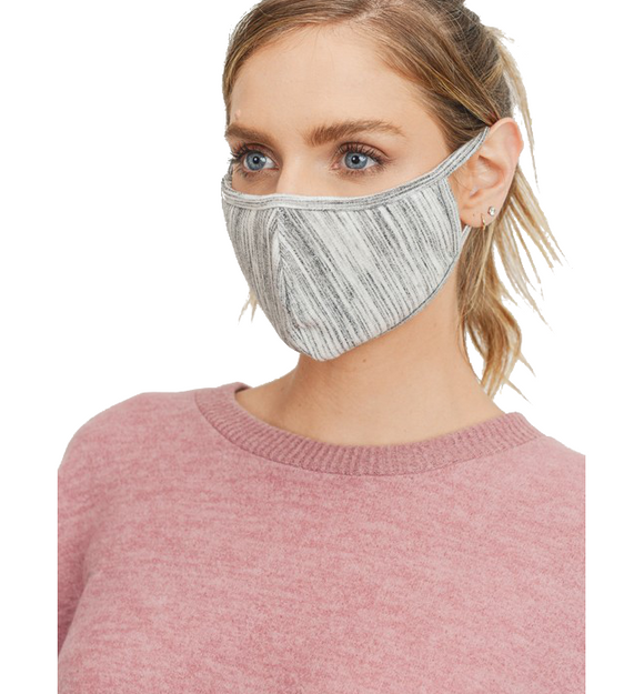 Marble French Terry Knit Face Mask - Hudson Square Boutique
