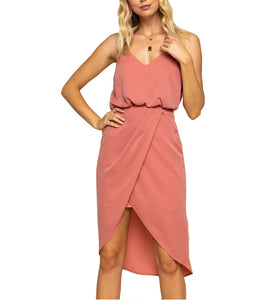 Mauve Classic Wrap Dress - Hudson Square Boutique