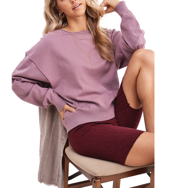 Lori Sweater in Mauve