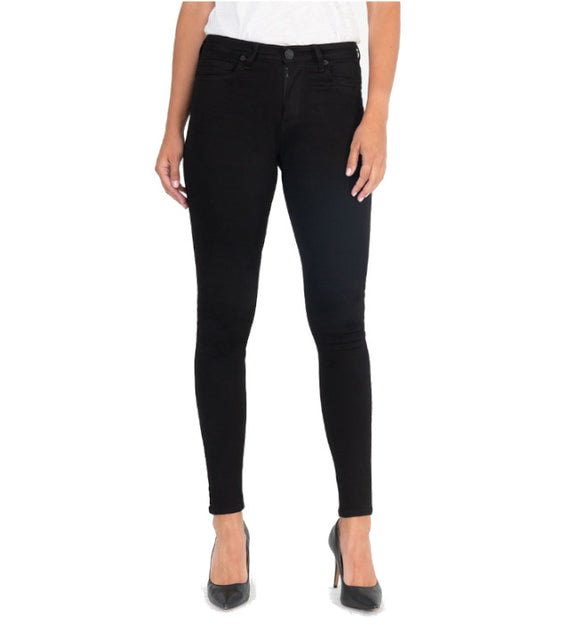 KUT From The Kloth Mia High Waist Slim Fit Skinny (Black) - Hudson Square Boutique