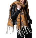 Oversized Chunky Scarf with Mustard